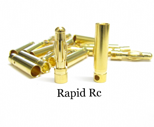 4mm Gold Connectors 10 pairs (20pc)